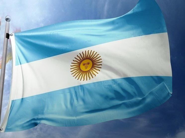 Bandeira Da Argentina 150cm X 90cm Em Poliéster