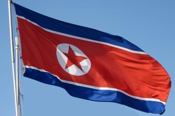 Resultado de imagem para foto: bandeira da Coreia do Norte