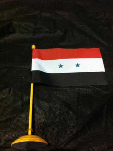 bandeira de mesa da síria