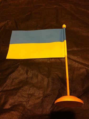 bandeira de mesa da ucrânia