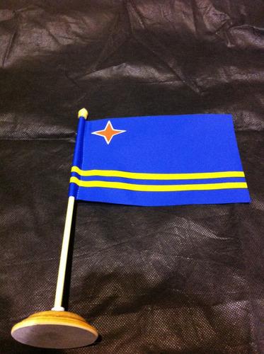 bandeira de mesa de aruba