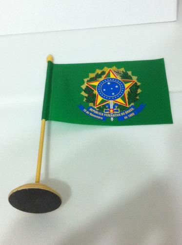 bandeira de mesa do brasão da república federativa do brasil