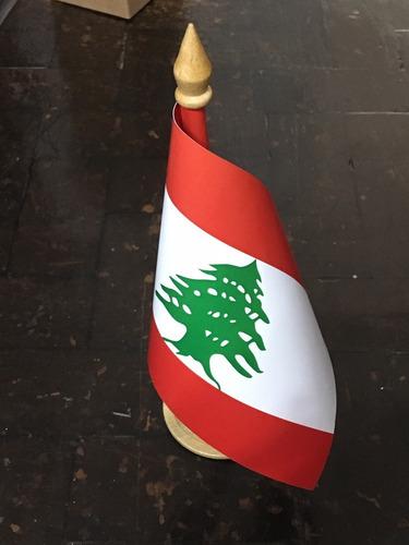 bandeira de mesa do líbano