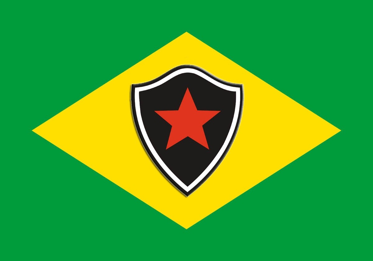 898b6da50a0f2 bandeira do botafogo - paraíba + bandeira do brasil. Carregando zoom.