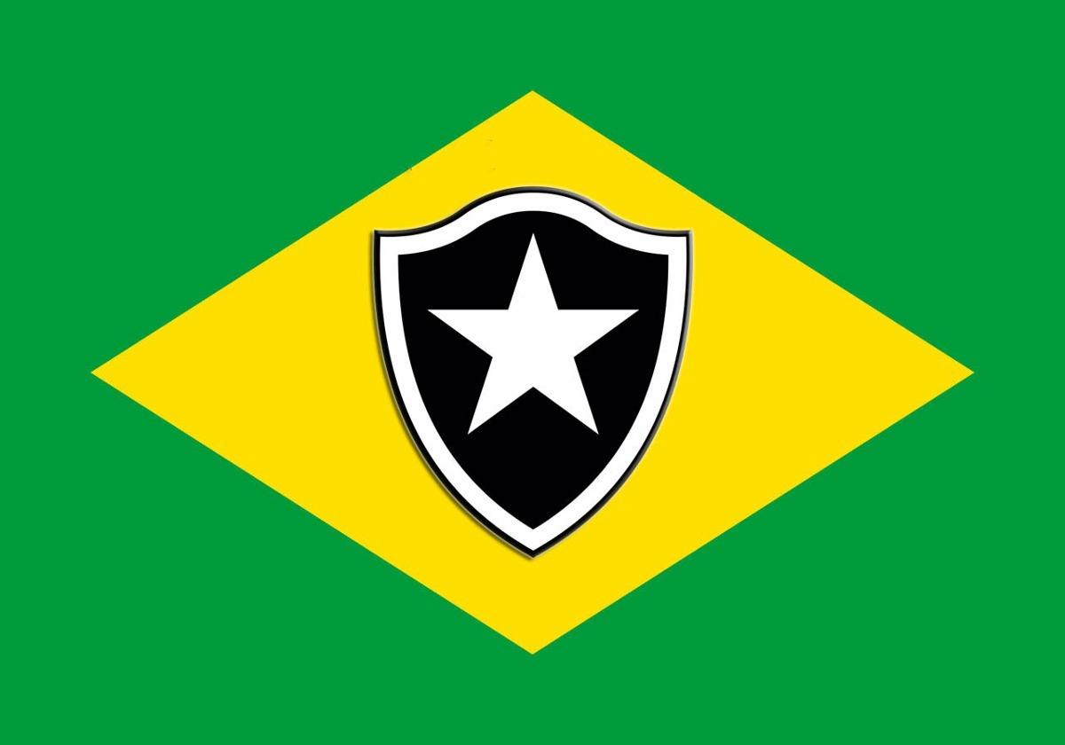 47798408f99fa Bandeira Do Botafogo - Rio De Janeiro + Bandeira Do Brasil - R  120 ...