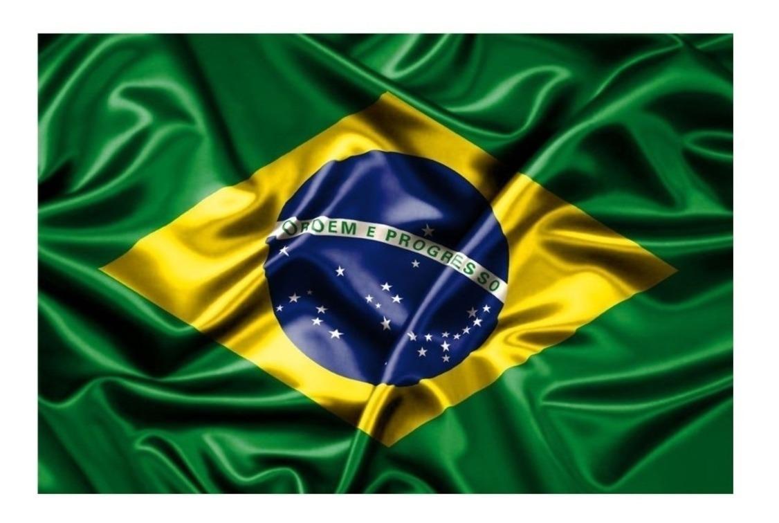 Bandeira Do Brasil (1,5m X 0,90cm) Poliéster - R$ 25,90 em Mercado ...