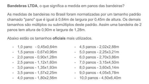 bandeira do brasil oficial bordada 3 panos  com ilhos