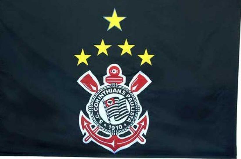 Bandeira Do Corinthians Oficial Torcedor 1.28 X 90 2 Panos - R  60 ... ec2de88bfd62e