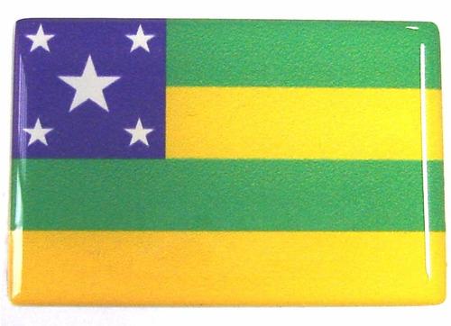 bandeira do estado da sergipe nordeste  brasil 6x4cm - bre