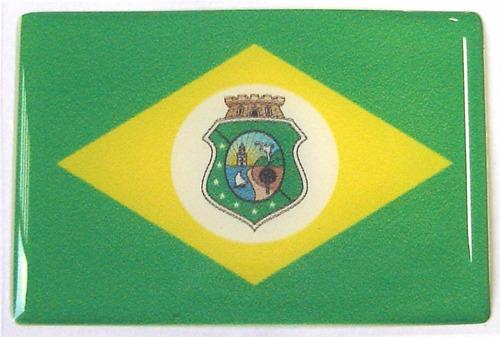bandeira do estado de ceará nordeste brasil 6x4cm - bre