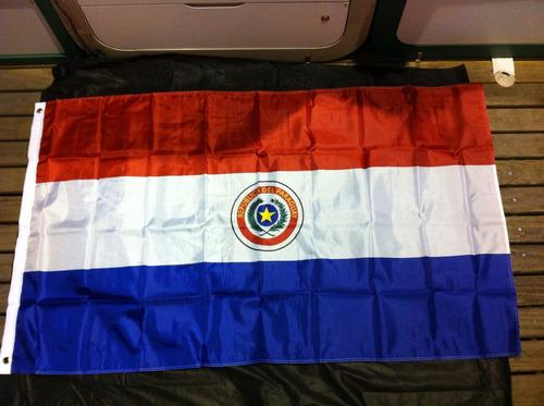 bandeira do paraguai 1,5 metros x 90 cm