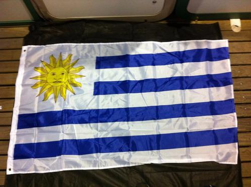 bandeira do uruguai 1,5 metros x 90 cm