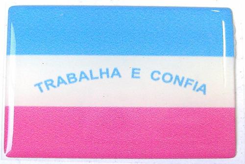 bandeira estado de espirito santo sudeste brasil 6x4cm - bre