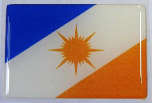bandeira estado de tocantins norte brasil 6x4cm - bre