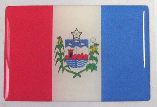 bandeira estado do alagoas nordeste brasil 6x4cm - bre