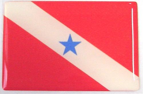 bandeira estado do pará norte brasil 6x4cm - bre
