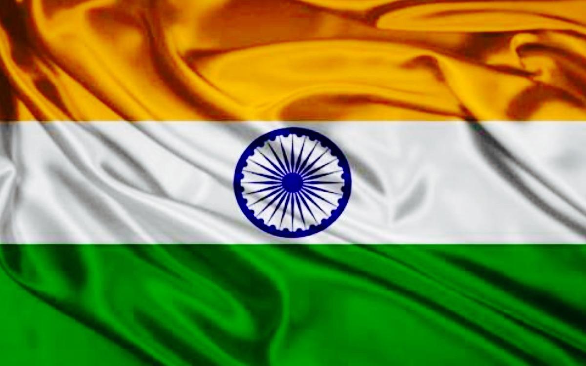 Clothe India Flag Hd: Bandeira Índia Cetim Alto Brilho 1,50m X 90cm Pronta