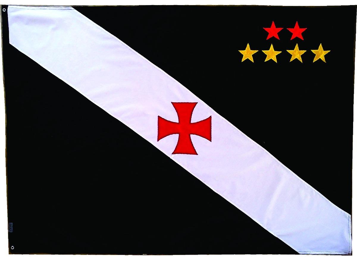 70c7db7d74 Bandeira Oficial Vasco Bordada 2 Metros   Futebol Gama - R  275