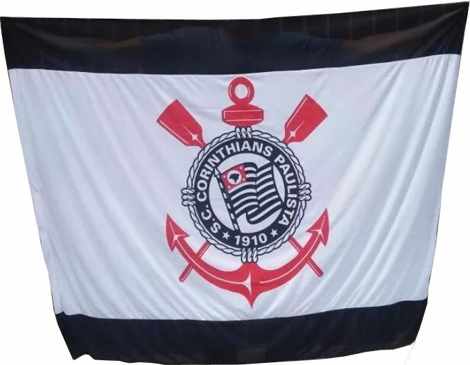 c7a0aae56e Bandeira Time De Futebol Barata!!! - Corinthians Timão Fiel - R  32 ...