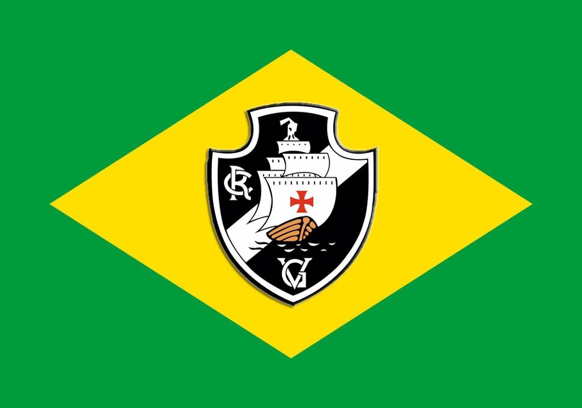 3d59dc25f3 Bandeira Vasco Da Gama - Rio De Janeiro + Bandeira Do Brasil - R ...