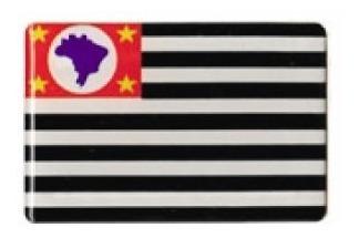 bandeirinha bandeira resinada estado são paulo 6,0 x 4,0 cm