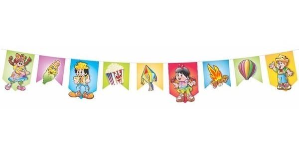 Bandeirinha Grande Decoracao Festa Junina Com Desenho 30 Mts R