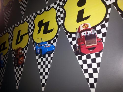 bandeirolas personalizadas (tema carros)
