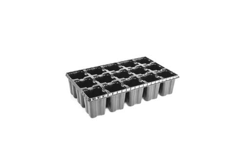 bandeja 15 celulas alta - kit com 10 unidades - mudas