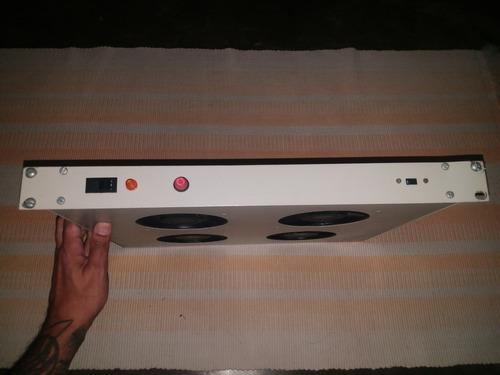 bandeja 4 cooler para rack 110v/220v