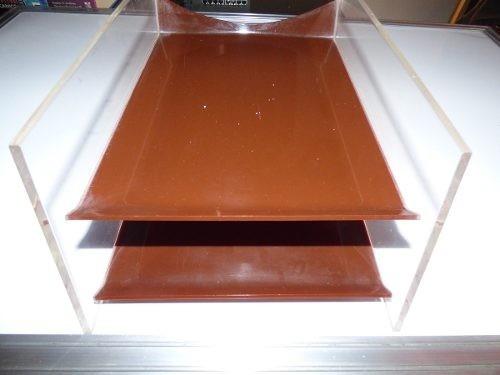bandeja acrilica escritorio 2 niveles usada