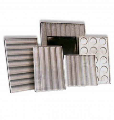 bandeja aluminio perforada con ondas 60 x 40 cm
