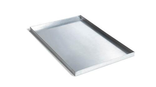 bandeja aluminio plana con pestaña - 60 x 40 cm