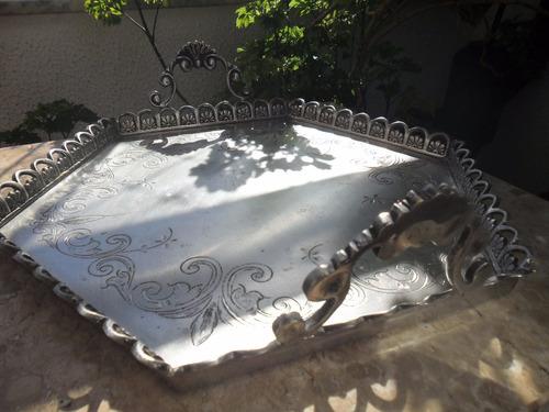 bandeja antiga prata