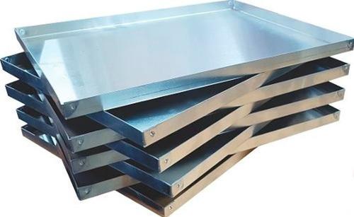 bandeja - asadera - placa 30x40x2 aluminio remachada.