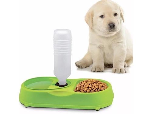 bandeja automatica comida agua para mascotas perros y gatos