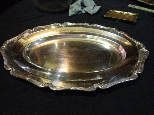 bandeja baixela de prata 90 imperial (laçinho)  44 x 29 cm