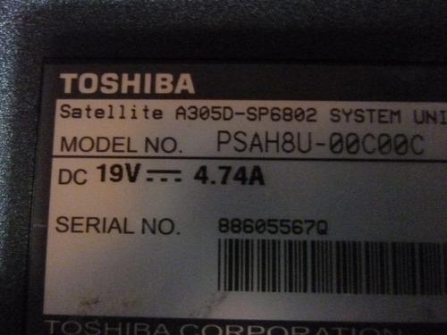 bandeja caddy disco rigido de notebook toshiba a300 a305