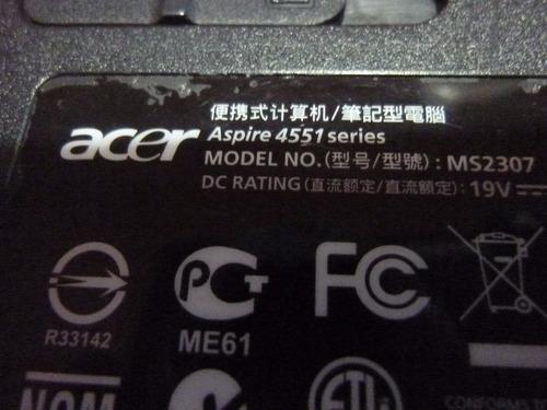 bandeja caddy hdd disco rigido notebook acer aspire 4551