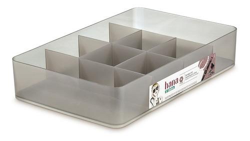 bandeja caixa organizadora m com divisórias gelo hana ordene organizador porta jóias anéis brincos armário closet gaveta