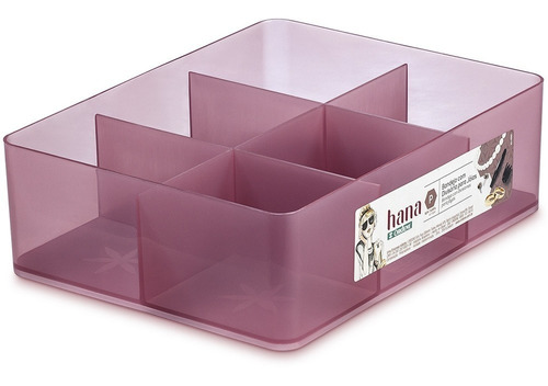 bandeja caixa organizadora p com divisórias rosa hana ordene organizador porta jóias anéis brincos armário closet gaveta
