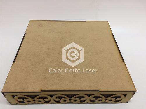 bandeja calada laser 25x25 reversible candybar fibrofacil