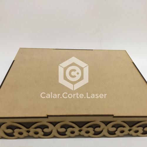 bandeja calada laser 30x25 reversible candybar fibrofacil