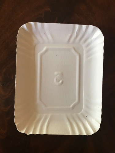 bandeja cartón blanca rectangular nº 1 (13,5x16,5 cm) x100