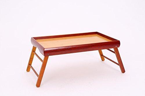 Bandeja cena desayuno en la cama de madera de tabla - Bandeja desayuno cama ...