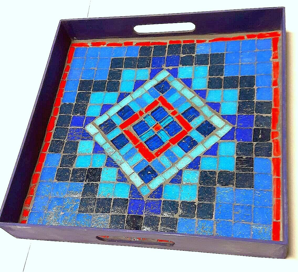 Bandeja Chacana Azul Profunfo En Mosaiquismo - $ 910,00 en Mercado ...