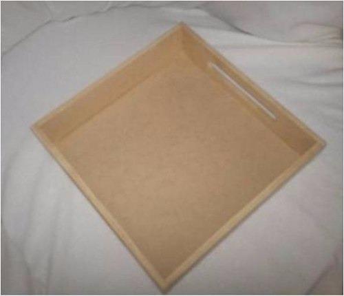 bandeja de 30x30 cm en mdf crudo