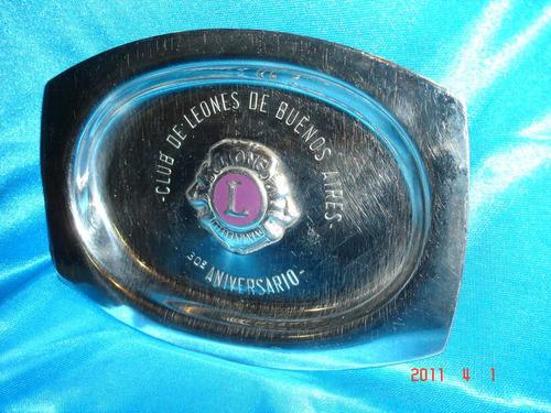 bandeja de acero inoxidable club de leones de bs. as.(3236p)