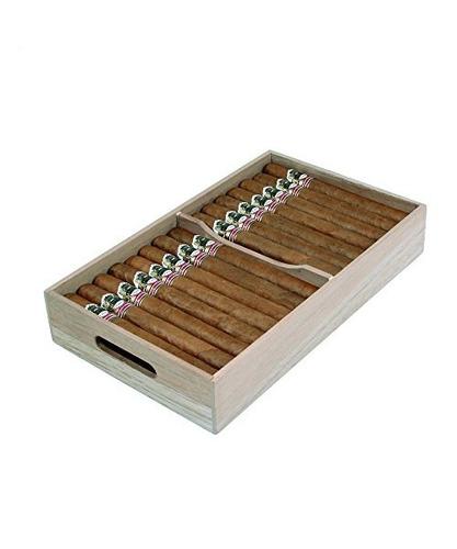 bandeja de cigarros de cedro español, divisor ajustable,