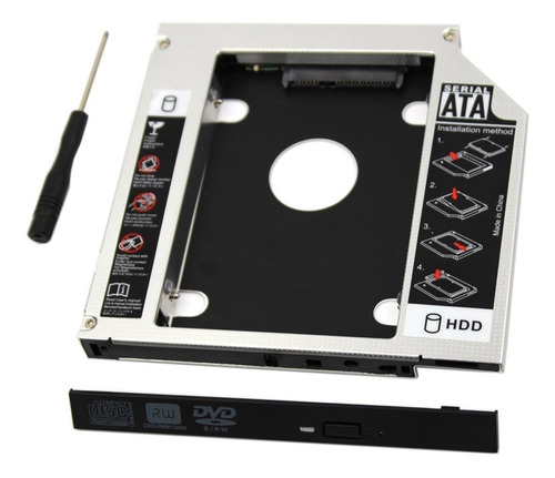 bandeja de disco duro sata hdd/ssd sata 3 - lectora cd 9.5mm