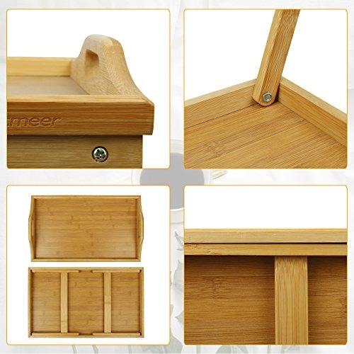 bandeja de la mesa de cama con patas plegables servir el des